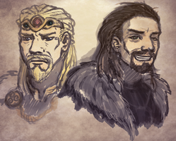 Balgruuf and Ulfric by AliothGrenwahl