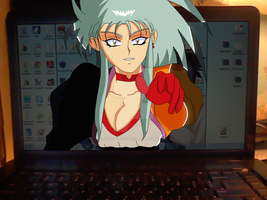 Ryoko coming to out of screen by gamemaster8910