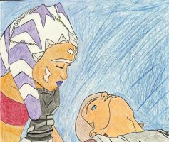 Ahsoka and Anakin by EmmyOhEmmy