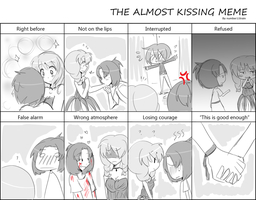 Almost Kissing Meme CxE by minakonumnums