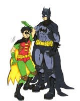 Batman and Robin by Grimmby