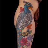 Peacock Tattoo by Origam-e