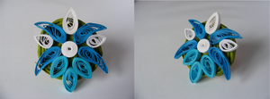 tardis themed flower badge by coppy-cat