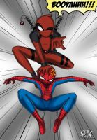 Deadpool and Spider-Man by FenRox