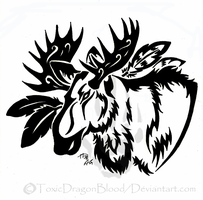 Moose Tattoo by ToxicDragonBlood