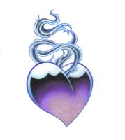 Sacred Heart Blue and Purple by weaverofshadow