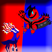 Chibi Xerneas and Yveltal by ShadowTerra345