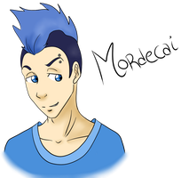 RS: Humanized Mordecai by DonnaHyena