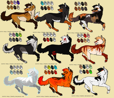 Wolf adoptables  {OPEN 4/9} by IInca