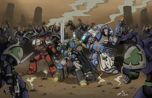 (Commish) Ares and Co surrounded by JessyRuiz