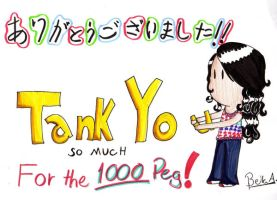 Thanks for the 1000 pageviews by Chiiromi-chan