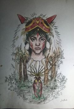 Princess Mononoke by cicaglisan
