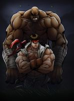 Ryu and Sagat Colors by rkw0021