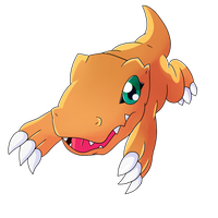 Agumon comes in! by Mayaliicious