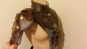 Musketeer Pauldron and Gorget by theDOC30427