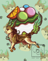 [Fanart] Leafeon Puff by WhiskyWhisker