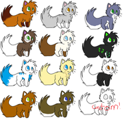 Adoptables by RidingBicycles