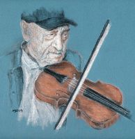 Old Time Fiddler by mbeckett