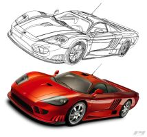 Saleen S7R Outline by p3nx