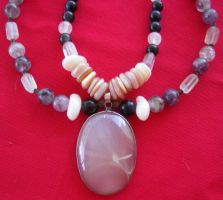 Moonstone Fantasies Necklace by DAnnsCreations