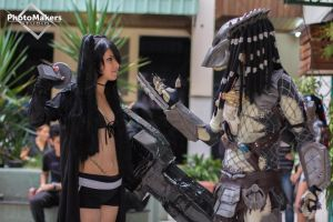 Black Rock Shooter and Predator by JNCosplayers