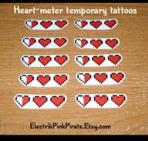 Commission- Heart meter tats by ElectrikPinkPirate