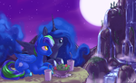 Commission - Hillside Dinner by atryl