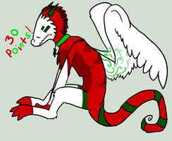Winged Christmas Stizzle adopt CLOSED by Fluffbutt-Adopts