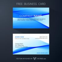 Free Modern Business Card Design Free Vector by vecree