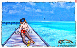 MISS MOUSE: Life's a Beach by CSuk-1T