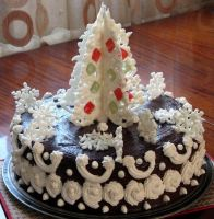 Christmas cake by JSjewelry