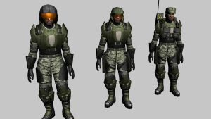 Halo 3 Marine WIP 5 by Robotlouisstevenson