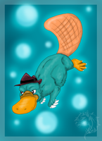 Perry the platypus by FlameCurry