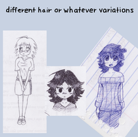 Different hair by tonkonton