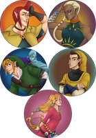 Skyward Sword Button Sheet by LaudyLau