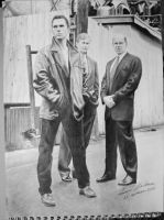 Krycek, Cigarette Smoking Man and Skinner by HannaKarlsson