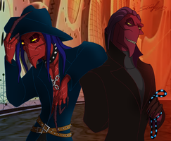 Blaine and Thrax by Hevimell