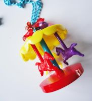 Carousel Vibrant Funfair Carnival Kawaii Necklace by xhellojackiex