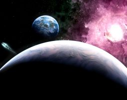 some lame space background by extraterrestrialarts