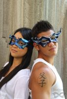 Cobalt Blue masks by Beadmask