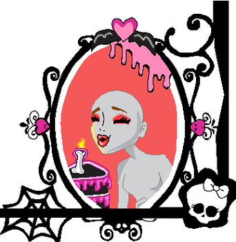 Sweet 1600 base- Ghoules frame by Misskitkatmadness