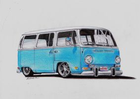 VW Type 2 Camper by ROL4NDesignStudio
