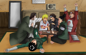 Naruto-RTN Boy's Poker Game by VietBBoyTobi