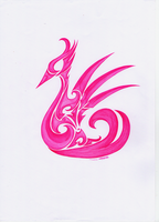 Pink Tribal Swan by Chapiou