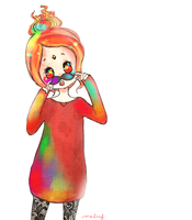 cute flame princess by iumba