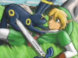 Friend or Foe? - Umbreon and Link by Jo-Onis