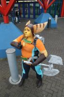 My finished Ratchet Cosplay by TheIronManda