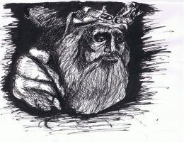 Old Man in Ink by darthbaio
