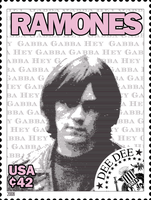 Ramones Stamps: Dee Dee by exfish