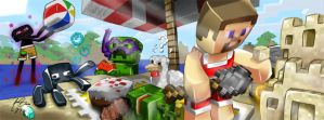 Minecraft Summer Picnic by tedmcfly